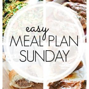 An easy weekly meal plan full of family favorites!