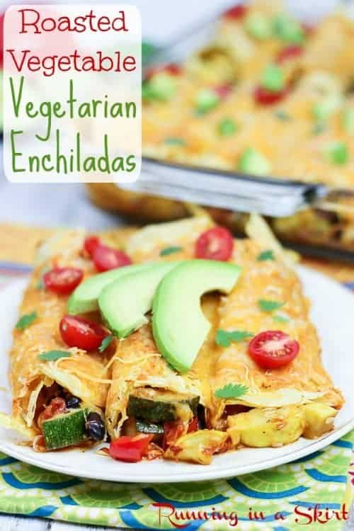 These Roasted Vegetable Enchiladas from Running in a Skirt look ...