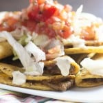 Mini Taco Nachos! Forget the chips - you can make nachos out of mini tacos!