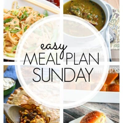 An easy weekly meal plan full of family favorite recipes!