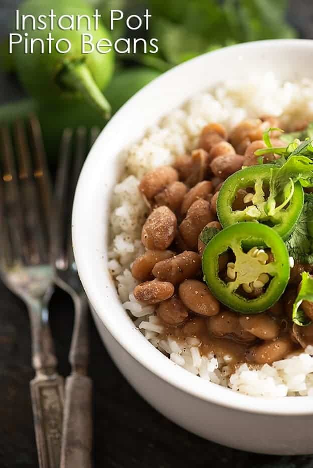 Mex pinto beans in the pressure cooker! These Instant Pot pinto beans ...
