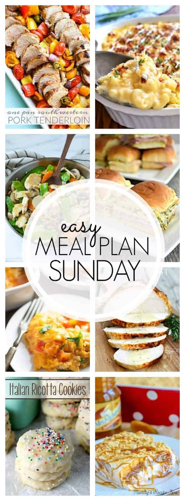 An easy weekly meal plan that is full of family favorite recipes!