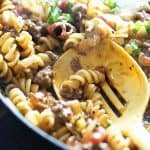 Skillet Lasgana - this is such an easy weeknight meal!