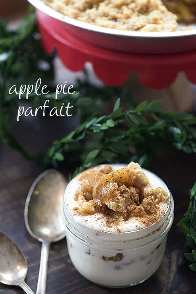Love this apple pie parfait for a quick breakfast or easy treat!