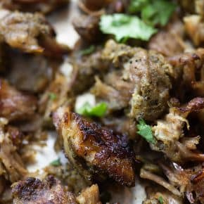 You're going to love this easy Instant Pot recipe! These pressure cooker carnitas are ready in about an hour and are so good!