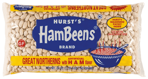 A bag of HamBeens beans