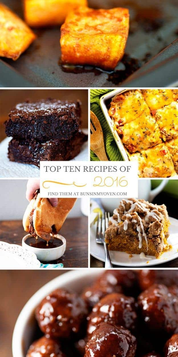 The top ten recipes of 2016 all in one place!