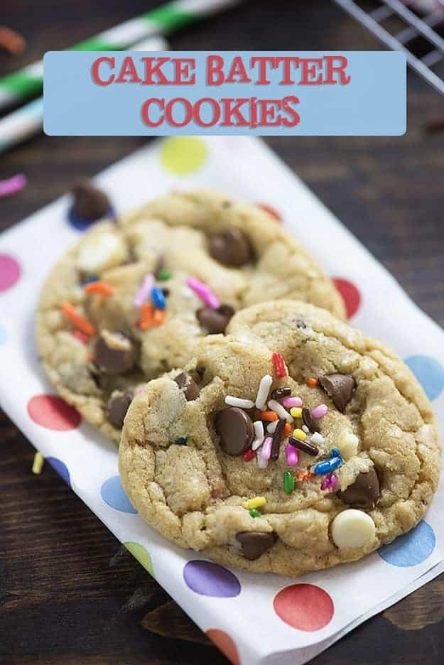 These cake batter cookies are so easy to whip up!