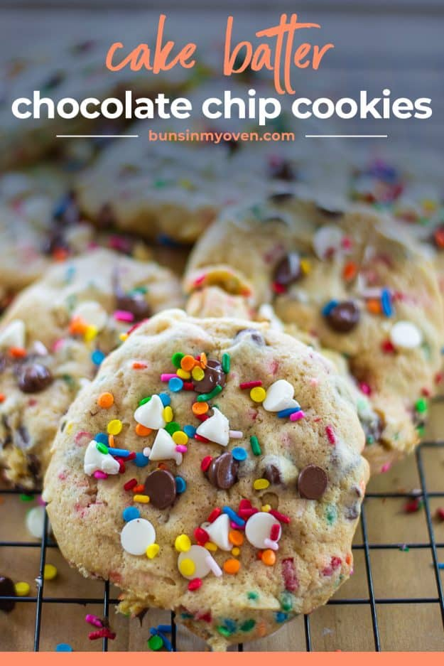 cake mix cookie recipe on cooling rack