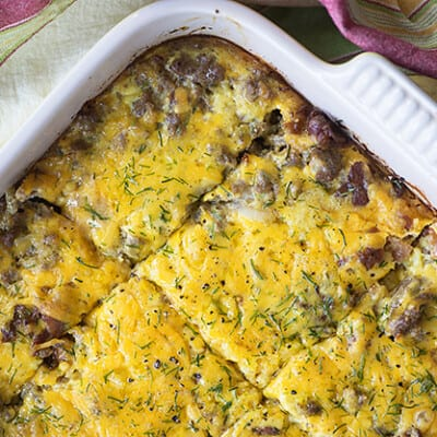 This low carb bacon cheeseburger casserole only has 3 net carbs per serving!! We love this cheesy goodness!