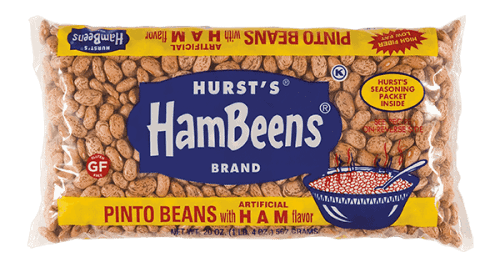 Pinto Beans with a packet of Ham flavor! So good!