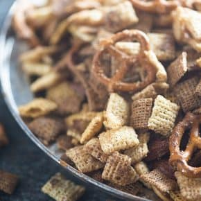 This sweet Chex mix recipe is loaded with cinnamon and sugar!