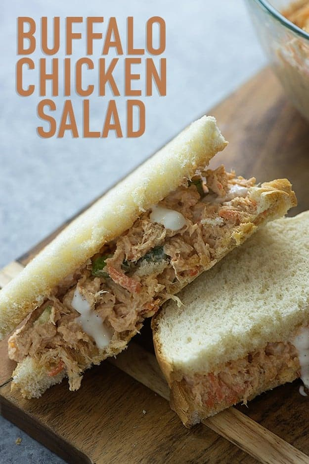 Chicken salad gets a spicy update with a buffalo twist!