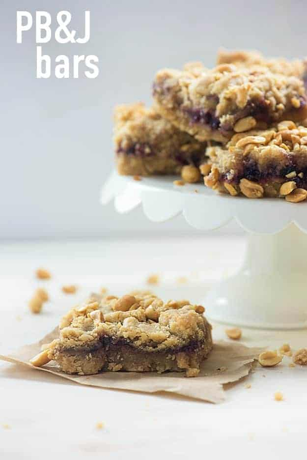 These peanut butter and jelly cookie bars are so soft and chewy!