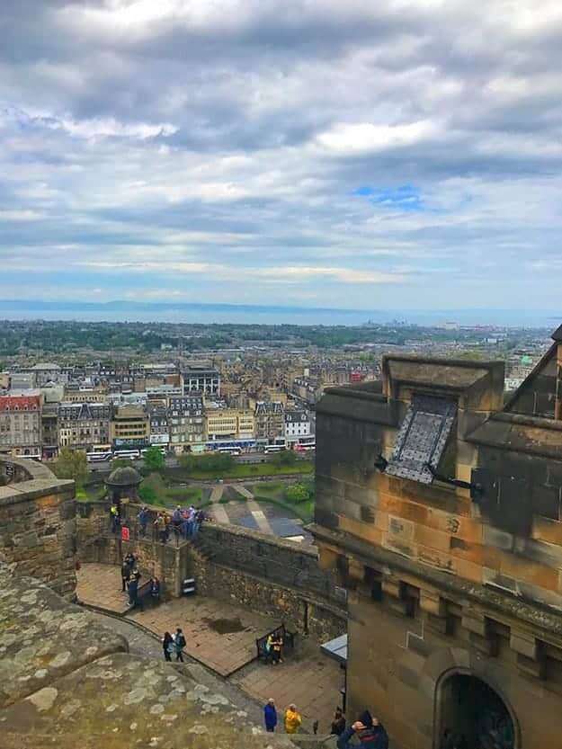 The view from Edinburgh Castle can not be beat.