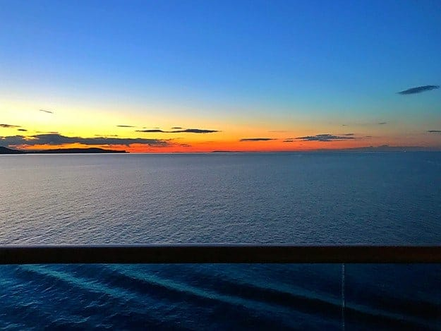 The sunsets from a cruise ship are the best thing in life.