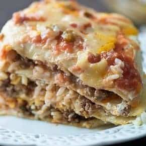 This burrito casserole is a serious winner for a quick family dinner!