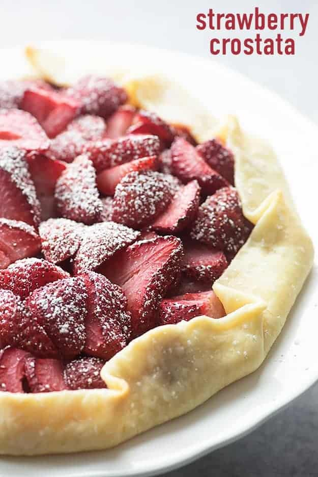 This strawberry crostata is such a simple twist on a classic pie!