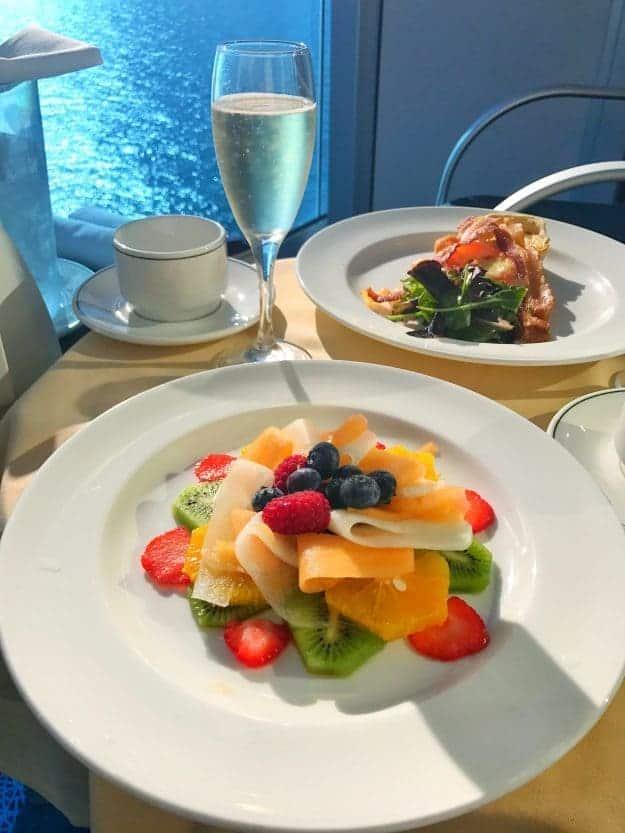The private balcony breakfast on Princess Cruises - amazing!