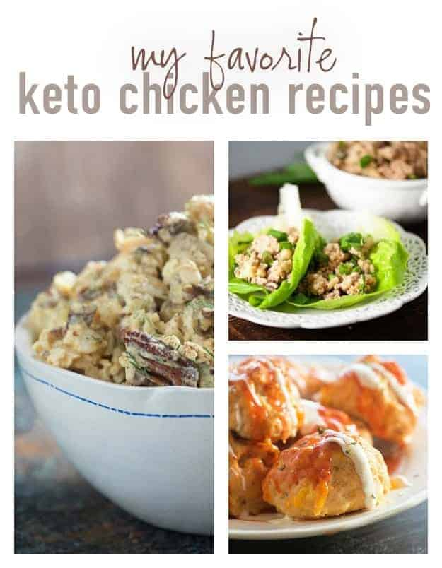 These keto chicken recipes are some of my all time favorites! They're perfect for a low carb diet.