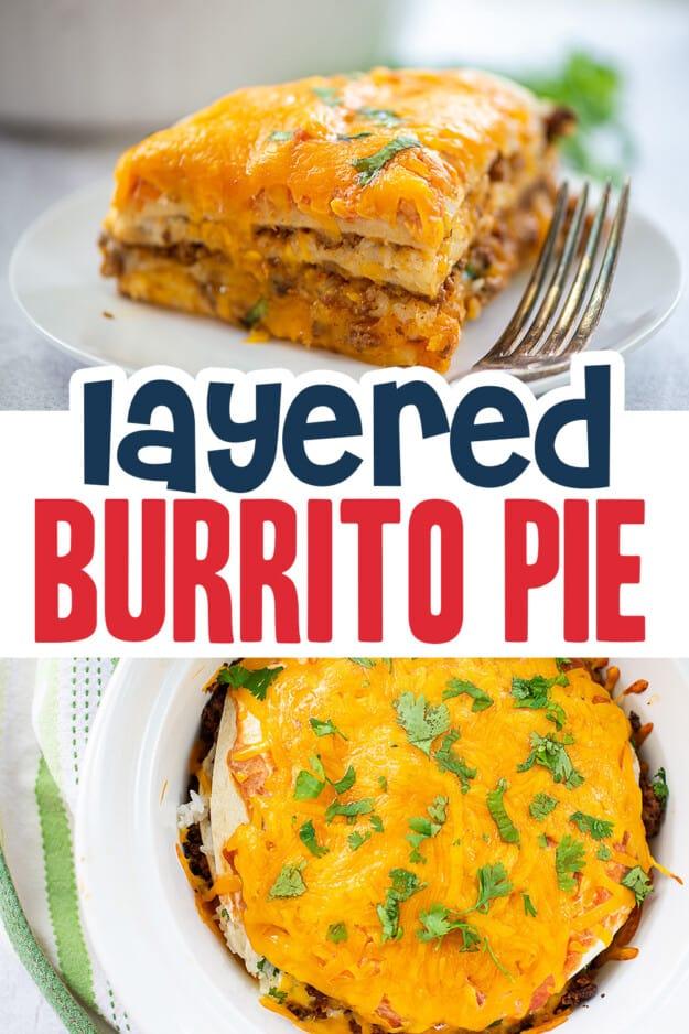collage of burrito images.