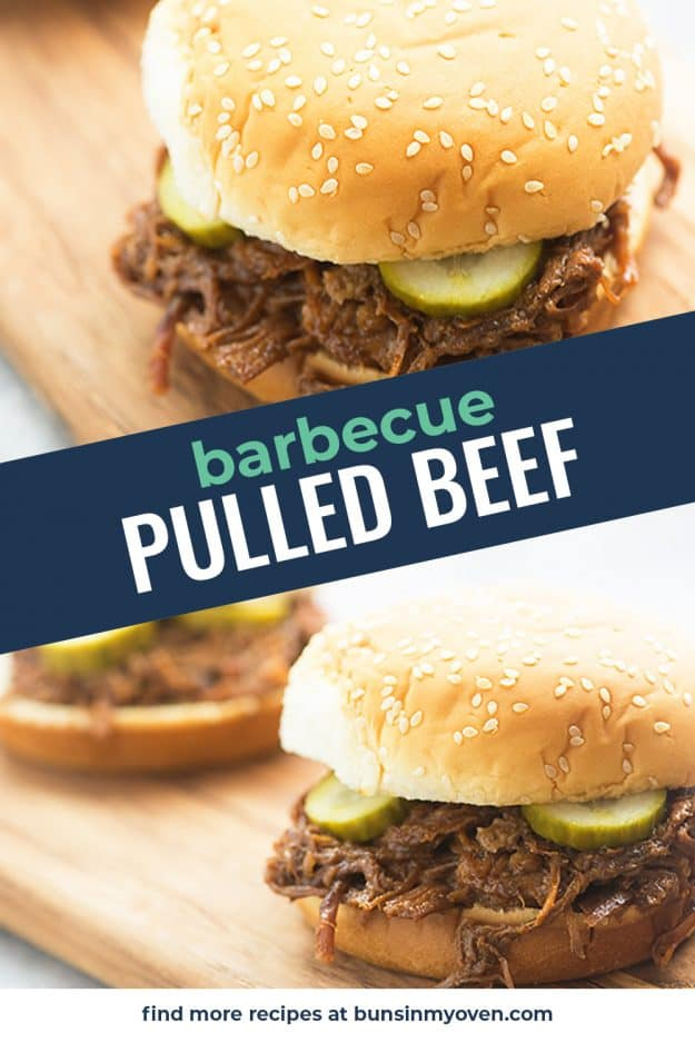 BBQ pulled beef photo collage.