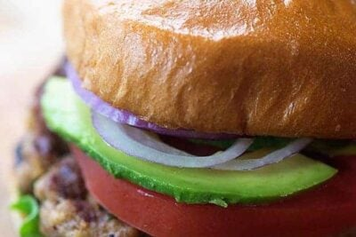 These are the best turkey burgers! So juicy and perfect on the grill!