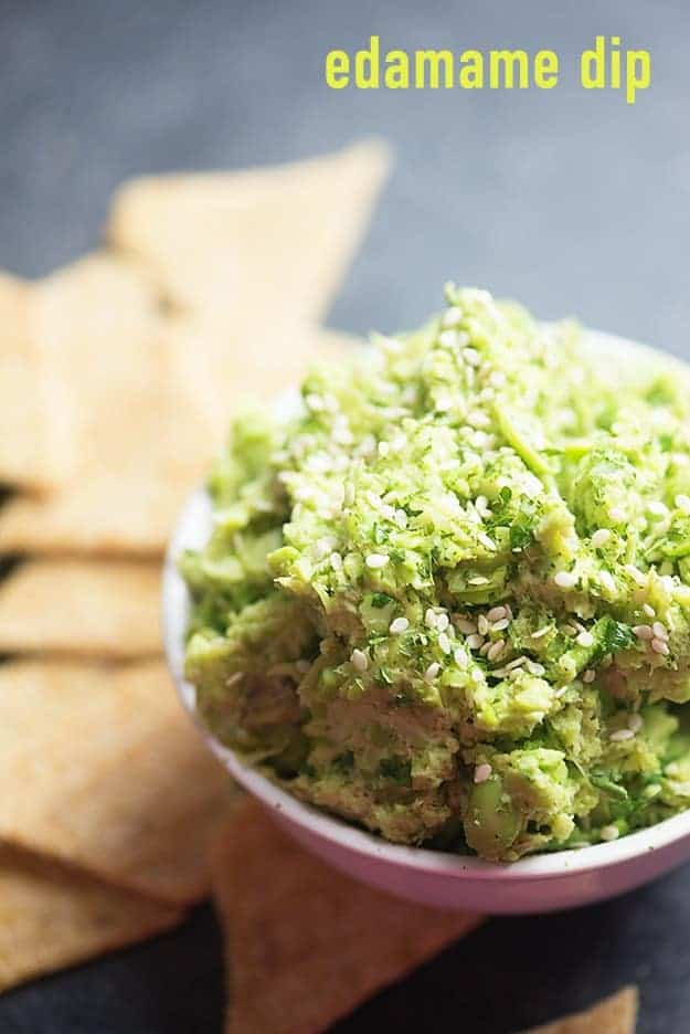 This edamame dip is bursting with Asian flavors! And it's so easy to make - just pop in the blender and you're good to go!