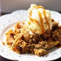 We were looking for something besides pie to make and this pumpkin cobbler was perfect! It has a crumbly oat topping and a creamy pumpkin filling! Love it!
