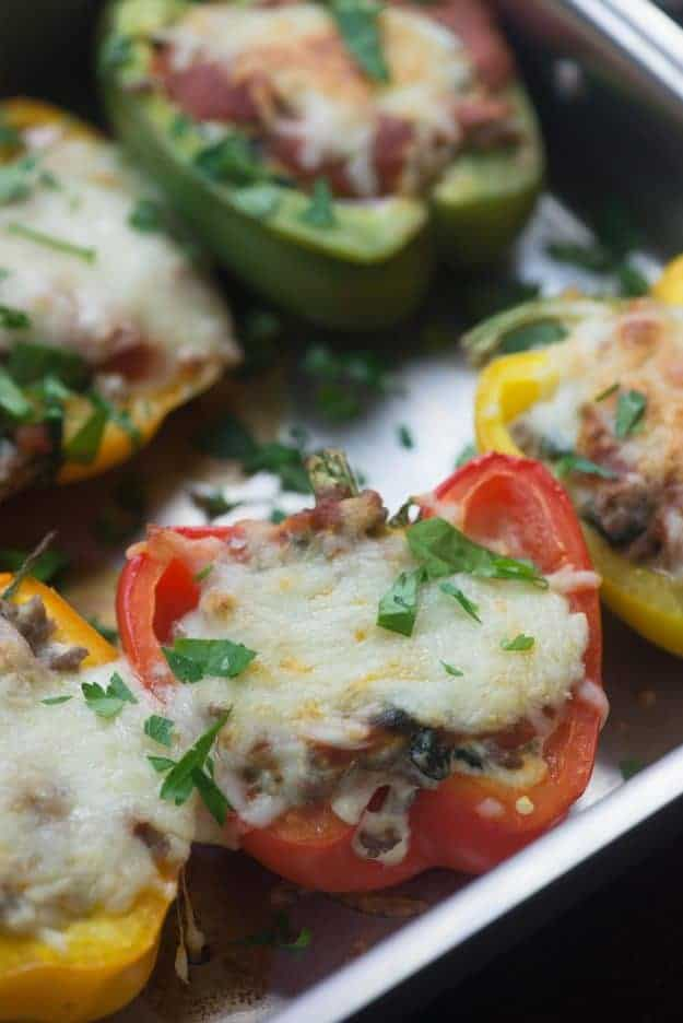 Low Carb Stuffed Peppers Recipe - Buns In My Oven