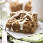 This banana coffee cake recipe is bursting with banana flavor! It's topped off with an extra thick layer of streusel!