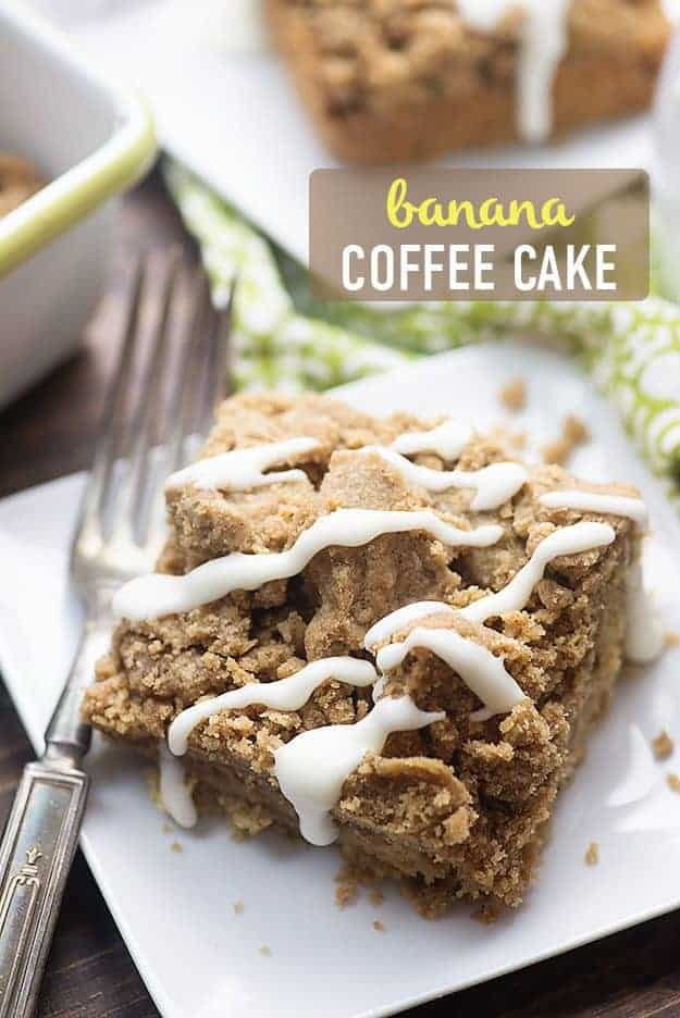 This banana cake recipe is bursting with banana flavor! It's topped off with an extra thick layer of streusel!