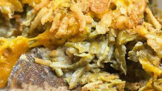 Green Bean Casserole with Bacon and Cheddar