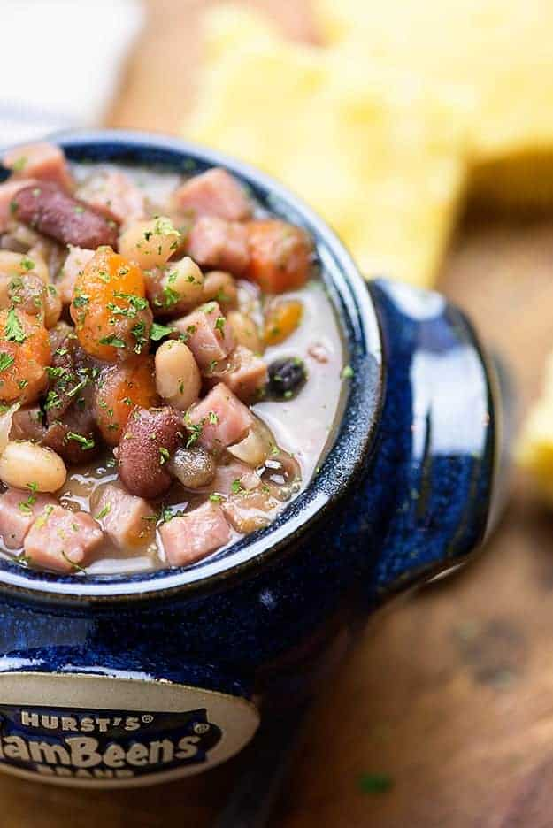 This ham and bean soup is one of my favorite pressure cooker recipes! This Instant Pot soup tastes like it cooked all day, but it's ready in less than two hours!