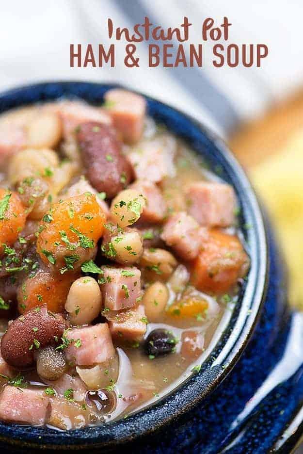 Instant Pot Ham and Beans! This is great for letftover ham!