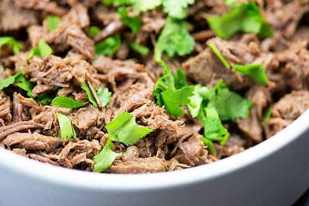 Beef Barbacoa in the slow cooker or Instant Pot!