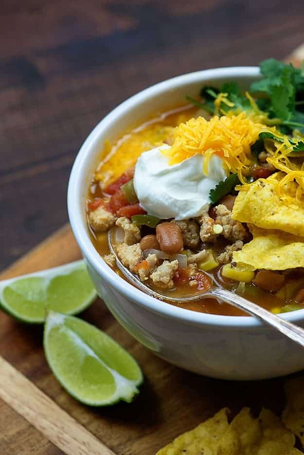 We love this weight watchers taco soup!