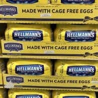Stacked up crates of eggs