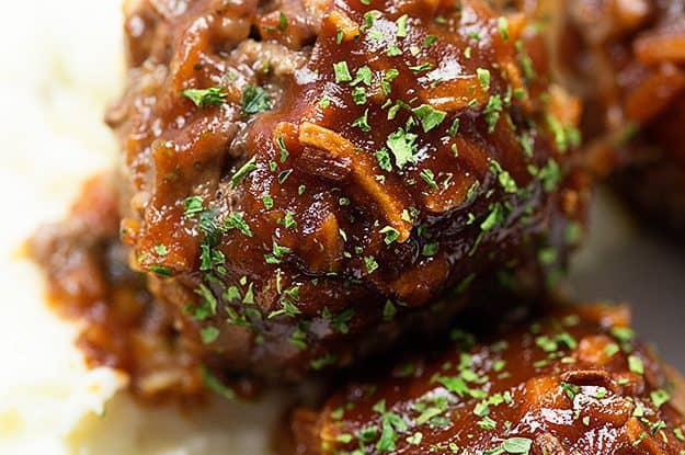 I'm obsessed with these homemade meatballs. They're baked in a tangy homemade bbq sauce.