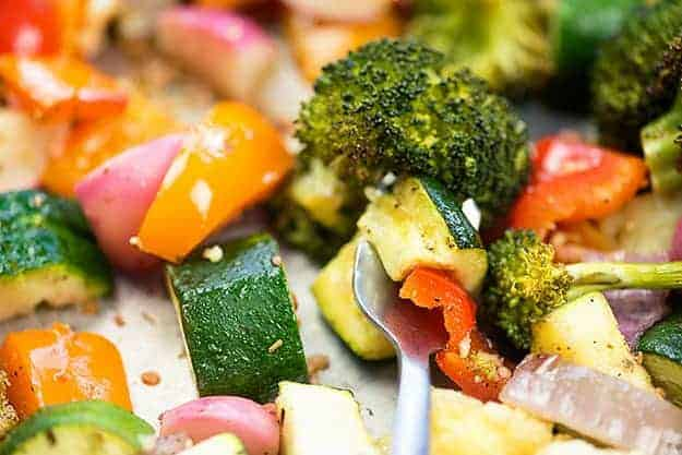 Roasted vegetables with Tuscan seasoning!