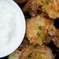 Coconut shrimp with a pineapple rum dipping sauce!