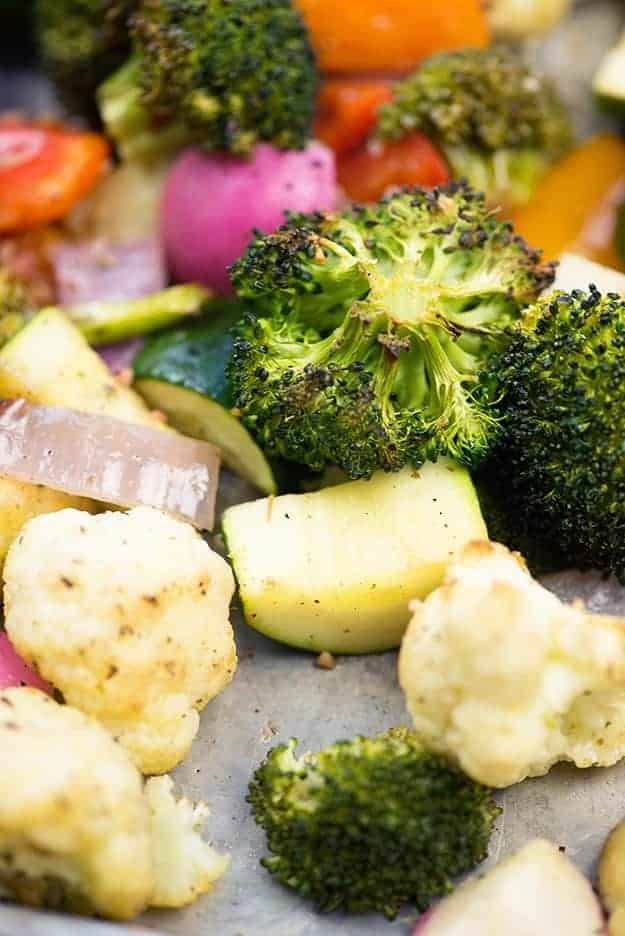 Roasted Vegetables Recipe with tuscan seasoning.