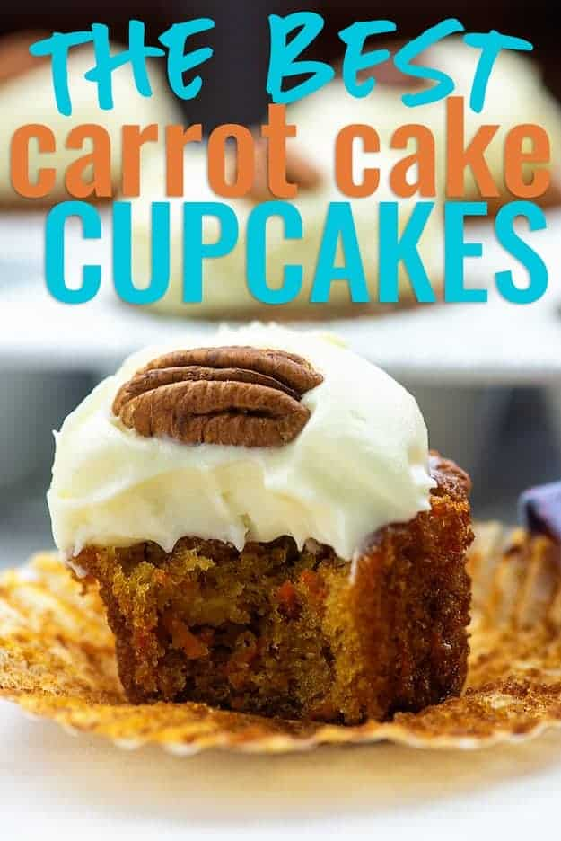 carrot cake cupcake on a muffin liner