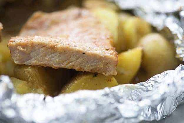baked pork chops in foil packet