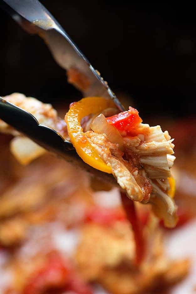 crockpot chicken fajitas