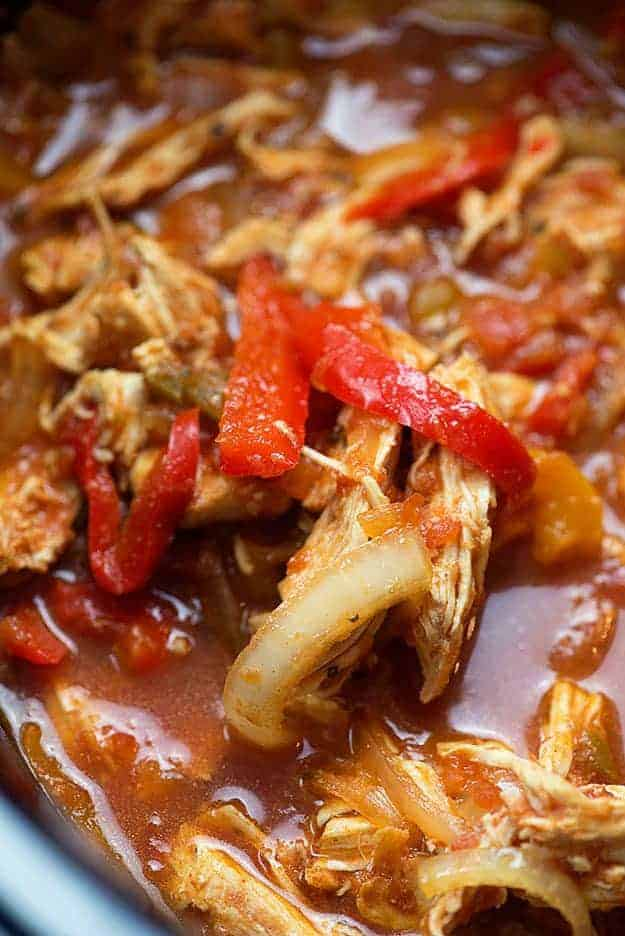 chicken fajitas in crockpot