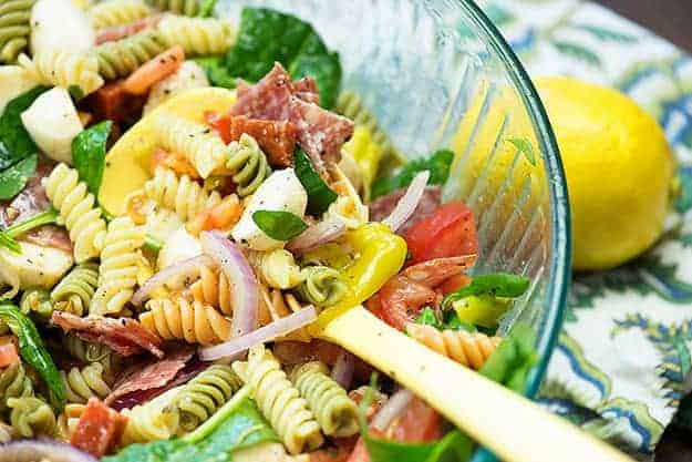 pasta salad recipe in bowl