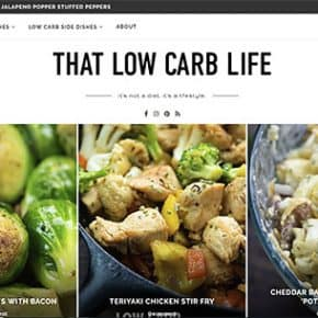 thatlowcarblife.com homescreen image