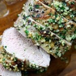 pork tenderloin recipe on cutting board
