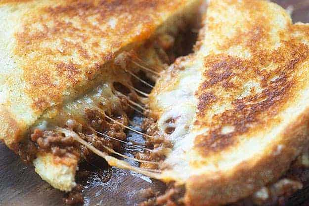 cheesy sandwich